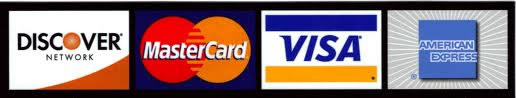 We now accept credit cards!